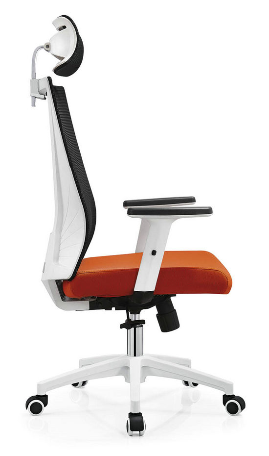BIFMA Approved headrest office mesh chairs arm chairs ergonomic operators chair -2
