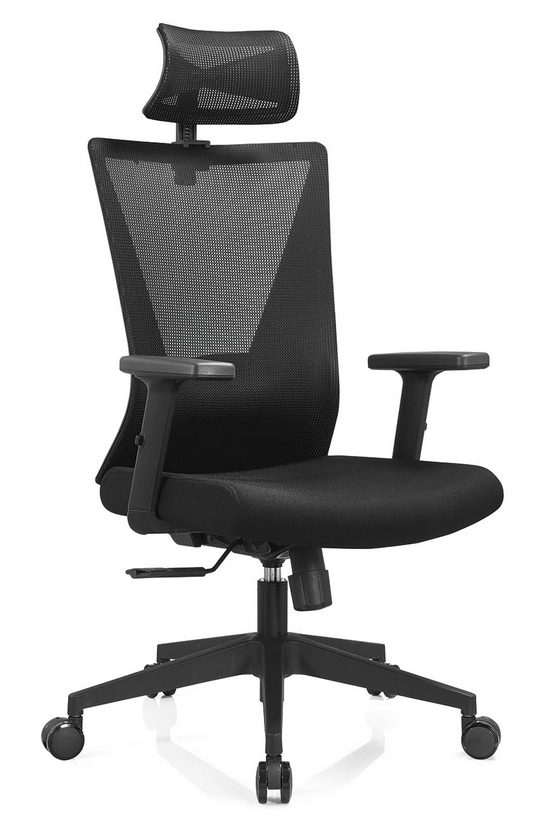 BIFMA Approved headrest office mesh chairs arm chairs ergonomic operators chair -4