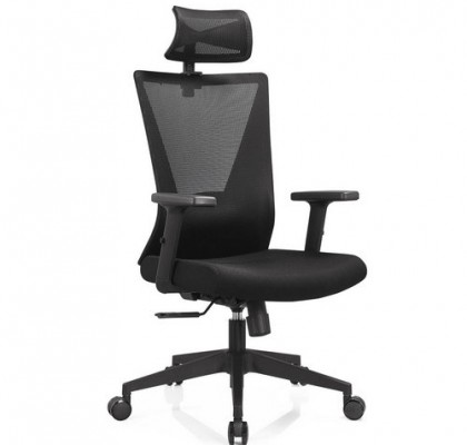 Foshan BIFMA Approved headrest office mesh chairs arm chairs ergonomic operators chair