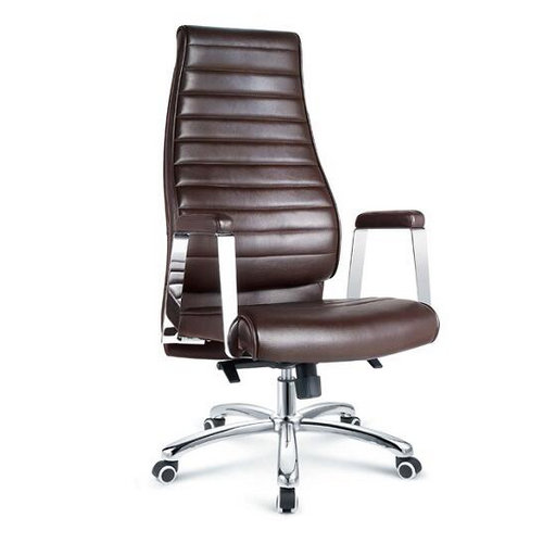 China supplier high quality metal promotional luxury fancy office chairs high back leather boss computer chair -1