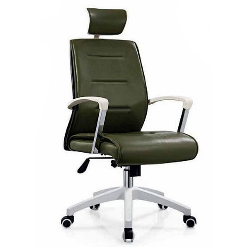 Comfortable Moving Soft PU Executive Leather Swivel Office Client Chair Staff Computer chairs -1