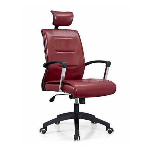 Comfortable Moving Soft PU Executive Leather Swivel Office Client Chair Staff Computer chairs -2