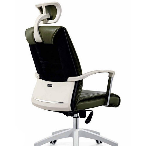 Comfortable Moving Soft PU Executive Leather Swivel Office Client Chair Staff Computer chairs -3
