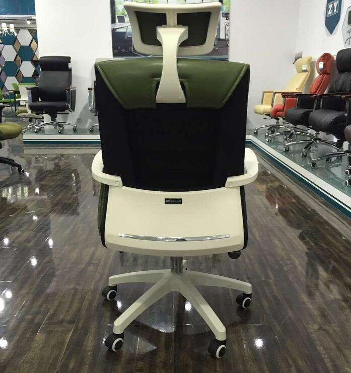 Comfortable Moving Soft PU Executive Leather Swivel Office Client Chair Staff Computer chairs -5