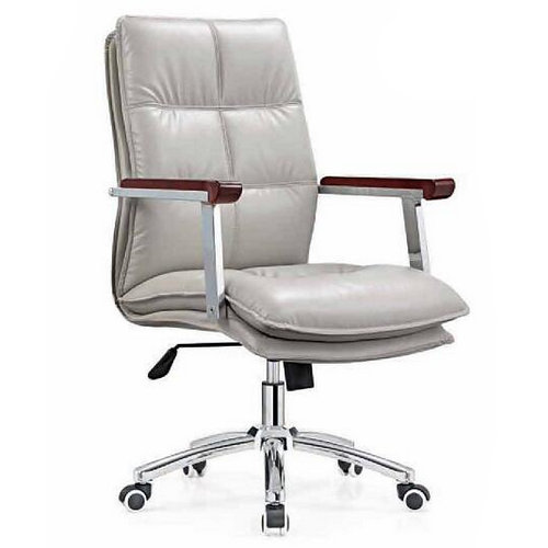 Imitation Leather Office Chair Senior Work Computer Chair Specifications Thicker Padded Meeting Room Chair with Arm -1