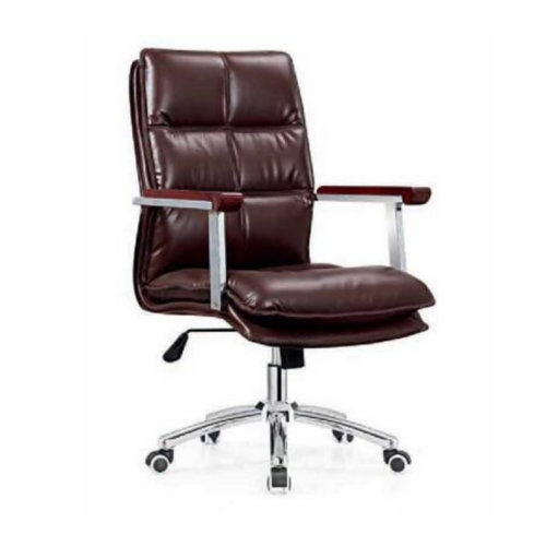 Imitation Leather Office Chair Senior Work Computer Chair Specifications Thicker Padded Meeting Room Chair with Arm -2