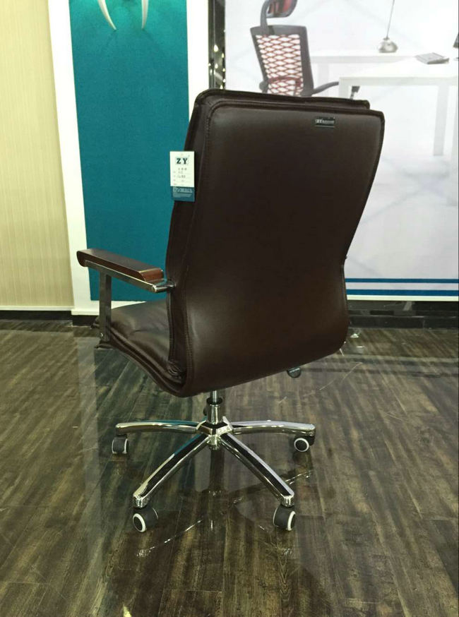 Imitation Leather Office Chair Senior Work Computer Chair Specifications Thicker Padded Meeting Room Chair with Arm -4