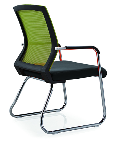 No folded Office Furniture Conference Visitor Chair Mesh Style Office Chair Without Caster -3