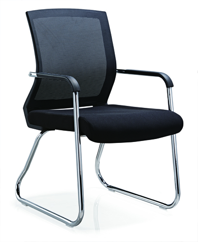 No folded Office Furniture Conference Visitor Chair Mesh Style Office Chair Without Caster -4