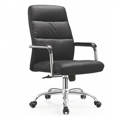 Cheap Ergonomic PU Leather Executive Office Task Computer Desk Chair with Metal Base