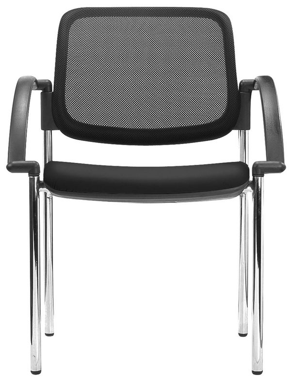 Popular mesh back conference meeting chair stackable visitor chair waiting room customer chairs -2