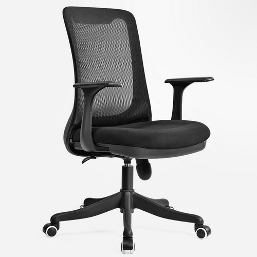 Professional staff computer office desk mid back task chair imported mesh best ergonomic conference chairs -3