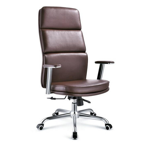 Top Grade Leather Height Adjustable Executive Chair High Back Office Chair Manager Chair -1