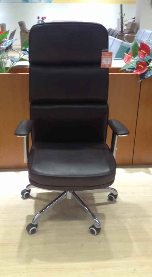 Top Grade Leather Height Adjustable Executive Chair High Back Office Chair Manager Chair -2
