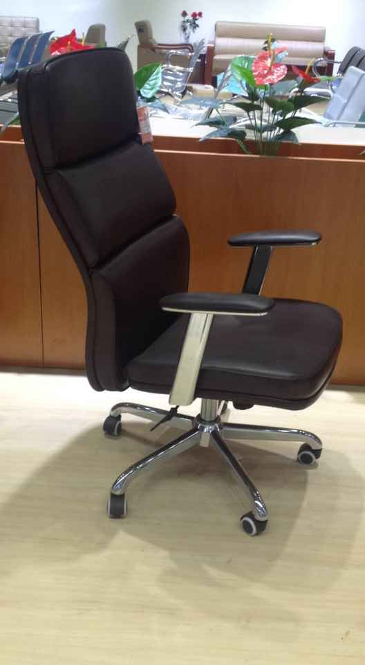 Top Grade Leather Height Adjustable Executive Chair High Back Office Chair Manager Chair -3