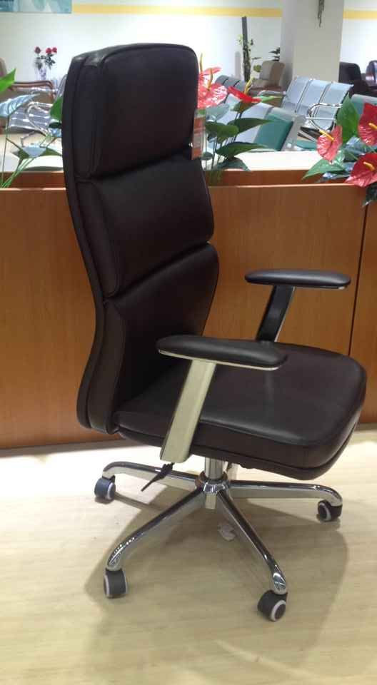 Top Grade Leather Height Adjustable Executive Chair High Back Office Chair Manager Chair -4