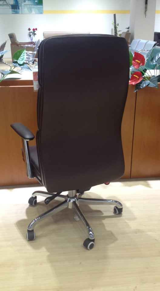 Top Grade Leather Height Adjustable Executive Chair High Back Office Chair Manager Chair -5