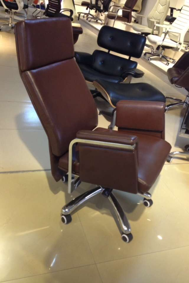 brown high back chair PU leather executive office chair reclining chair -3