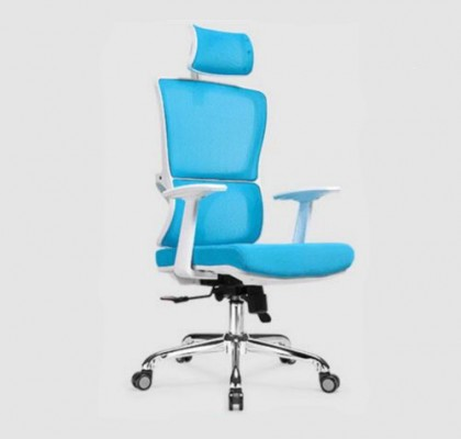 functional executive ergonomic office mesh chair height adjust swivel mesh meeing white frame recliner chair