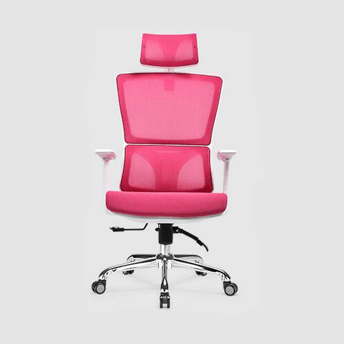 functional executive ergonomic office mesh chair height adjust swivel mesh meeing white frame recliner chair -2