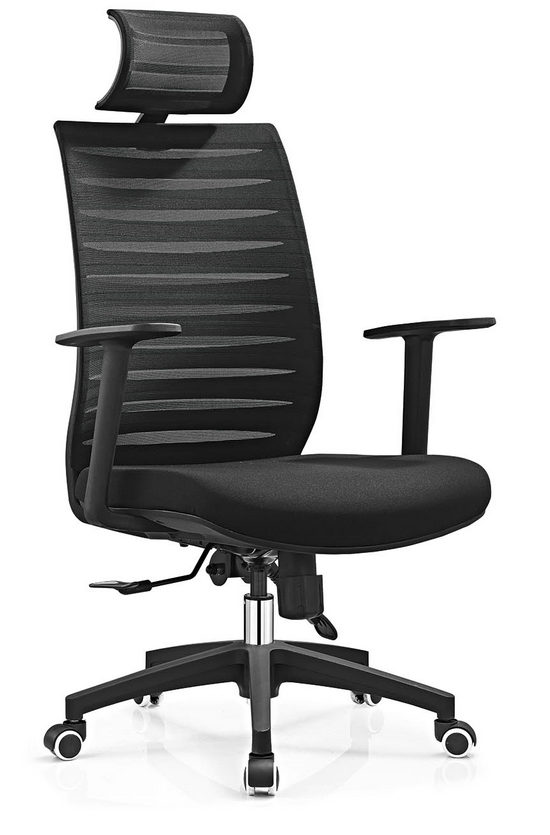 modern high back black swivel executive office mesh visitor chair -1