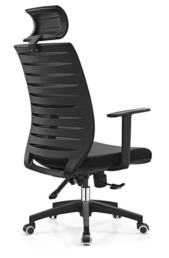modern high back black swivel executive office mesh visitor chair -2