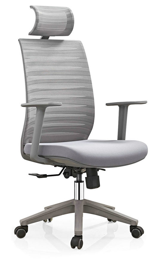 modern high back black swivel executive office mesh visitor chair -4