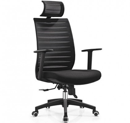 Modern Style Adjust Height Ergonomic High Back Black Swivel Executive Office Mesh Chair