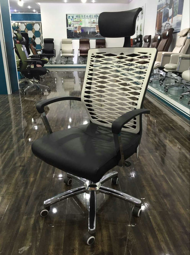 new design plastic back ergonomic office chair China wholesale plastic frame conference meeting room chairs -2