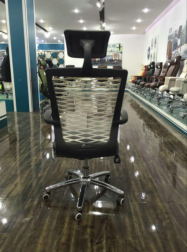 new design plastic back ergonomic office chair China wholesale plastic frame conference meeting room chairs -3