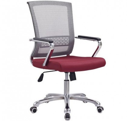 Competitive Commercial Mesh Staff Office Chair Steel Frame ArmChair Manufacture in China