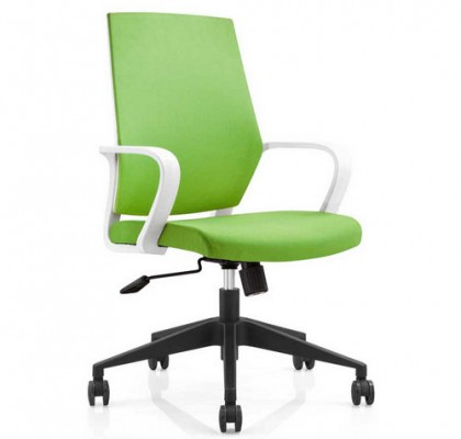 Hot sale plastic back fabric rolling swivel staff office chair visitor chair with adjustable height nylon base