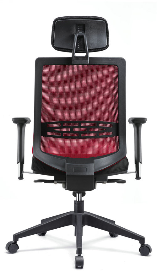Modern computer chair racing seat high back swivel mesh office chair with headrest -2