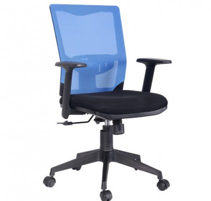 cheap price mesh clerk chair ergonomic staff task middle back armchair for conference room