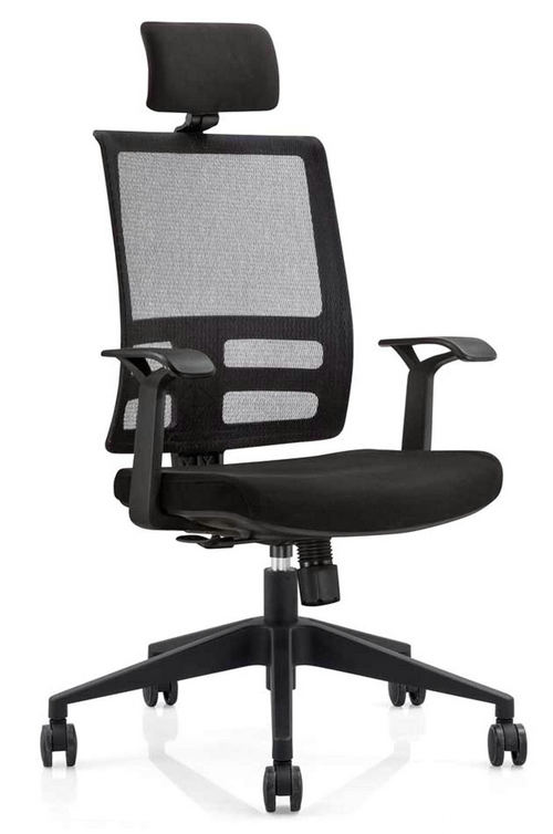 ergonomic high back mesh executive office chair with lumbar support for meeting room -1