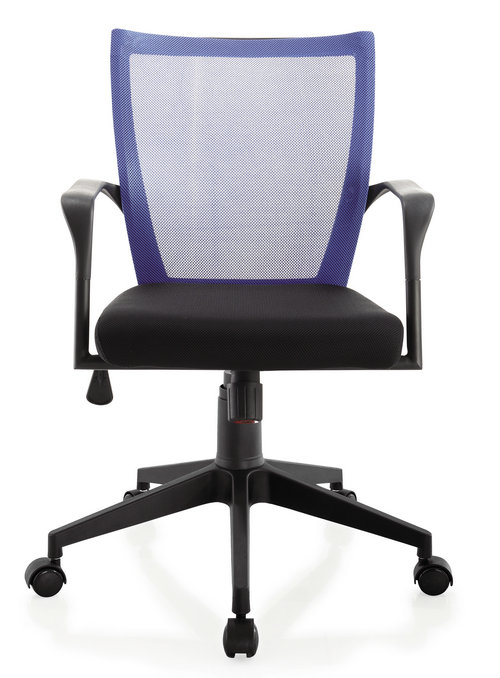small size staff room ergonomic swivel chair low back plastic fabric computer employee chair -3