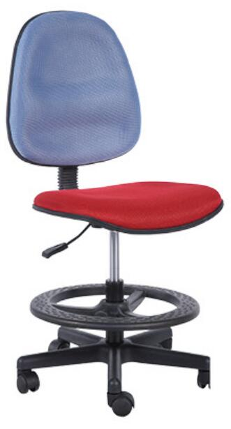Cheap Staff Office Operator Chairs Counter Cashier Chair Swivel Drafting Chair with foot ring -1