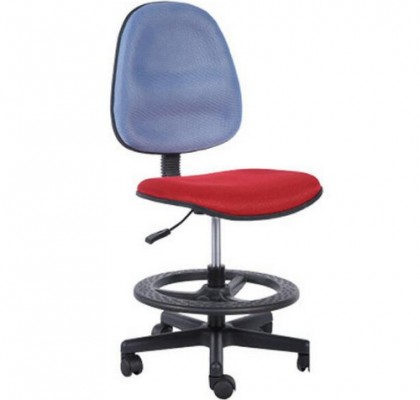 Cheap Staff Office Operator Chairs Counter Cashier Chair Swivel Drafting Chair with foot ring