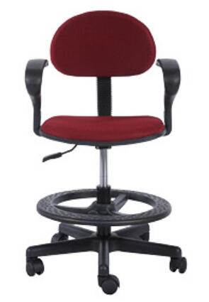 Ergonomic Staff Office Operator Chairs Counter Cashier Chair Swivel Drafting Chair with foot ring -1