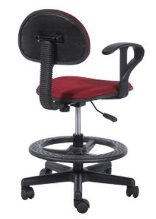 Ergonomic Staff Office Operator Chairs Counter Cashier Chair Swivel Drafting Chair with foot ring -2
