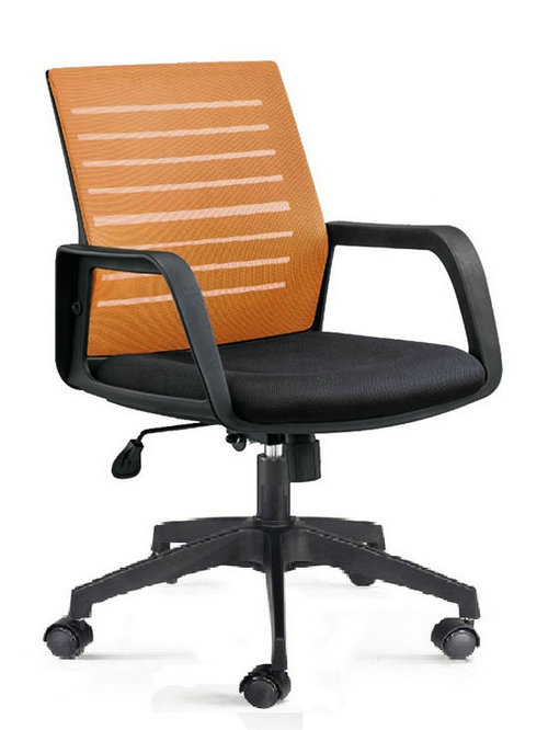 Modern commercial swivel reclining upholstered seat staff mesh office chair with folding back -1