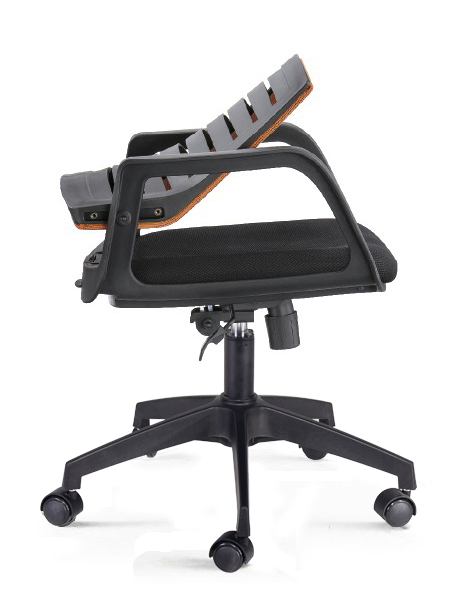Modern commercial swivel reclining upholstered seat staff mesh office chair with folding back -2