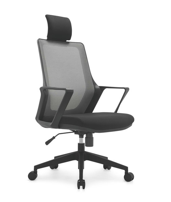 Modern ergonomic staff office black plastic mesh chair swivel computer chairs -1