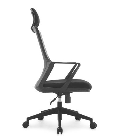 Modern ergonomic staff office black plastic mesh chair swivel computer chairs -2