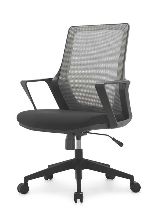 Modern ergonomic staff office black plastic mesh chair swivel computer chairs -3