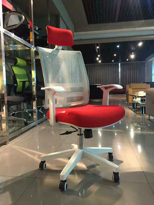 Modern ergonomic swivel white staff office furniture task chairs armchair -1