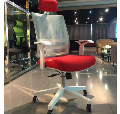 Modern ergonomic office seating swivel white staff office furniture task chairs armchair