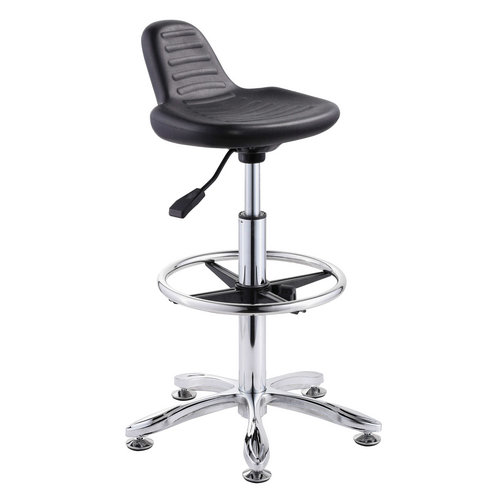 durable school laboratory computer lab chairs operator stool cashier chair no wheels -1