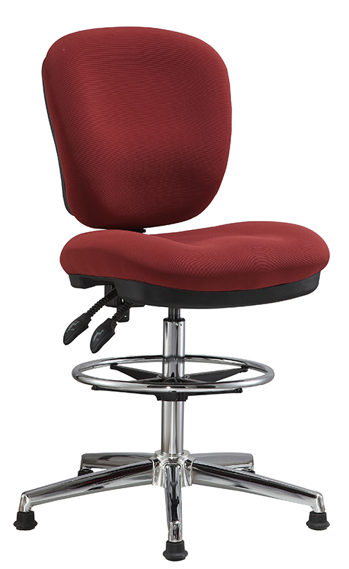 fabric office drafting chair height adjustable operator chair counter cashier computer chair -1