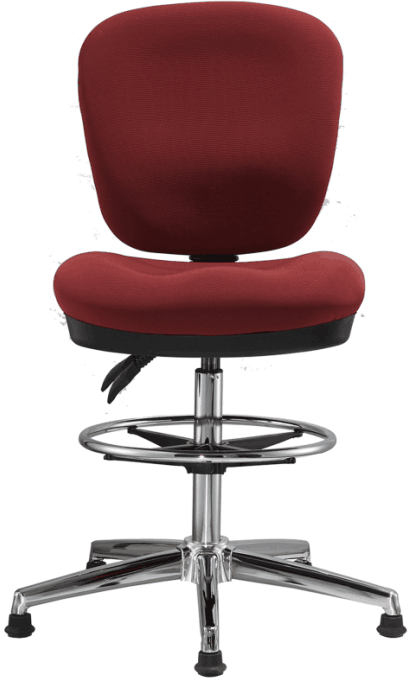 fabric office drafting chair height adjustable operator chair counter cashier computer chair -2